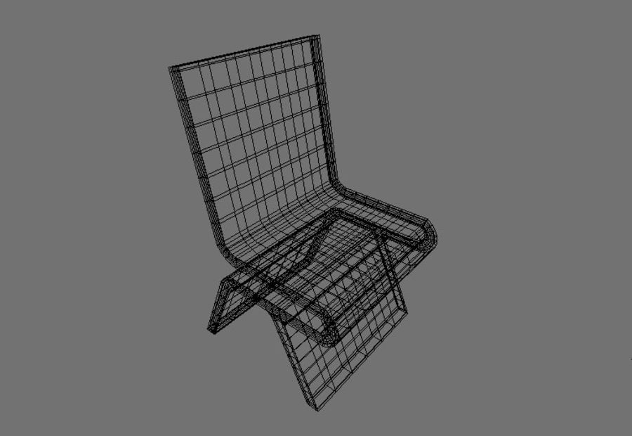 Modern Table and Chairs royalty-free 3d model - Preview no. 10