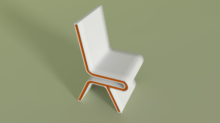 Modern Table and Chairs royalty-free 3d model - Preview no. 8