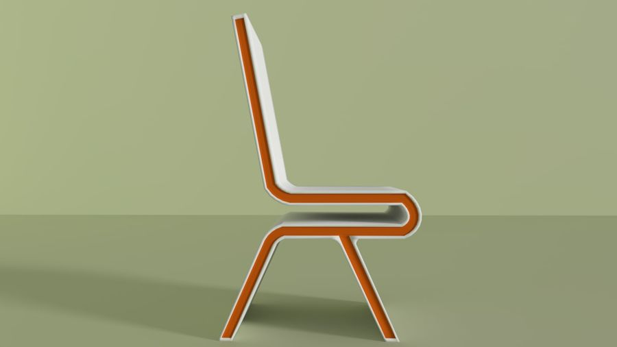 Modern Table and Chairs royalty-free 3d model - Preview no. 7