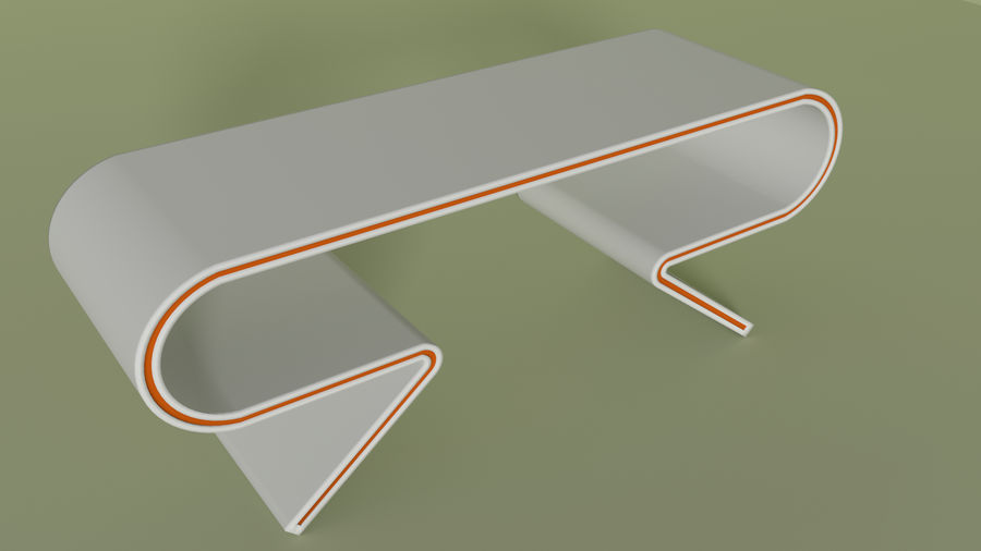 Modern Table and Chairs royalty-free 3d model - Preview no. 3