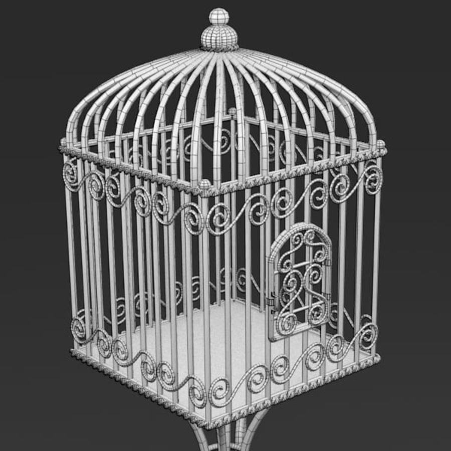 Vogelkooi royalty-free 3d model - Preview no. 10