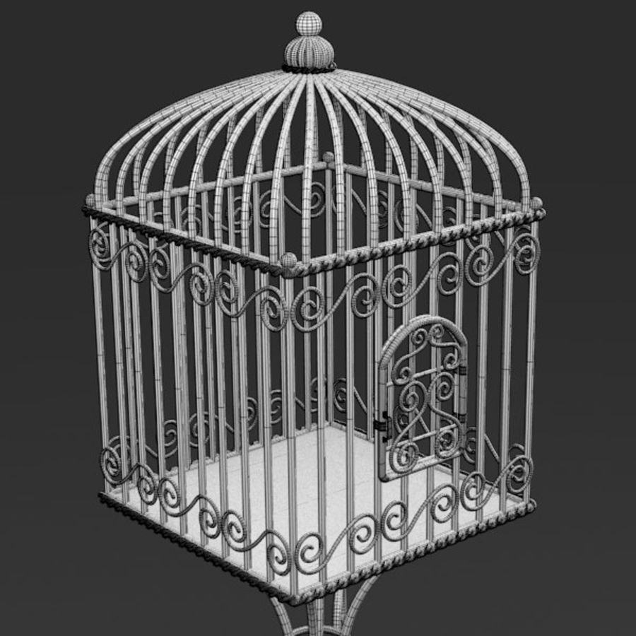 Vogelkooi royalty-free 3d model - Preview no. 11