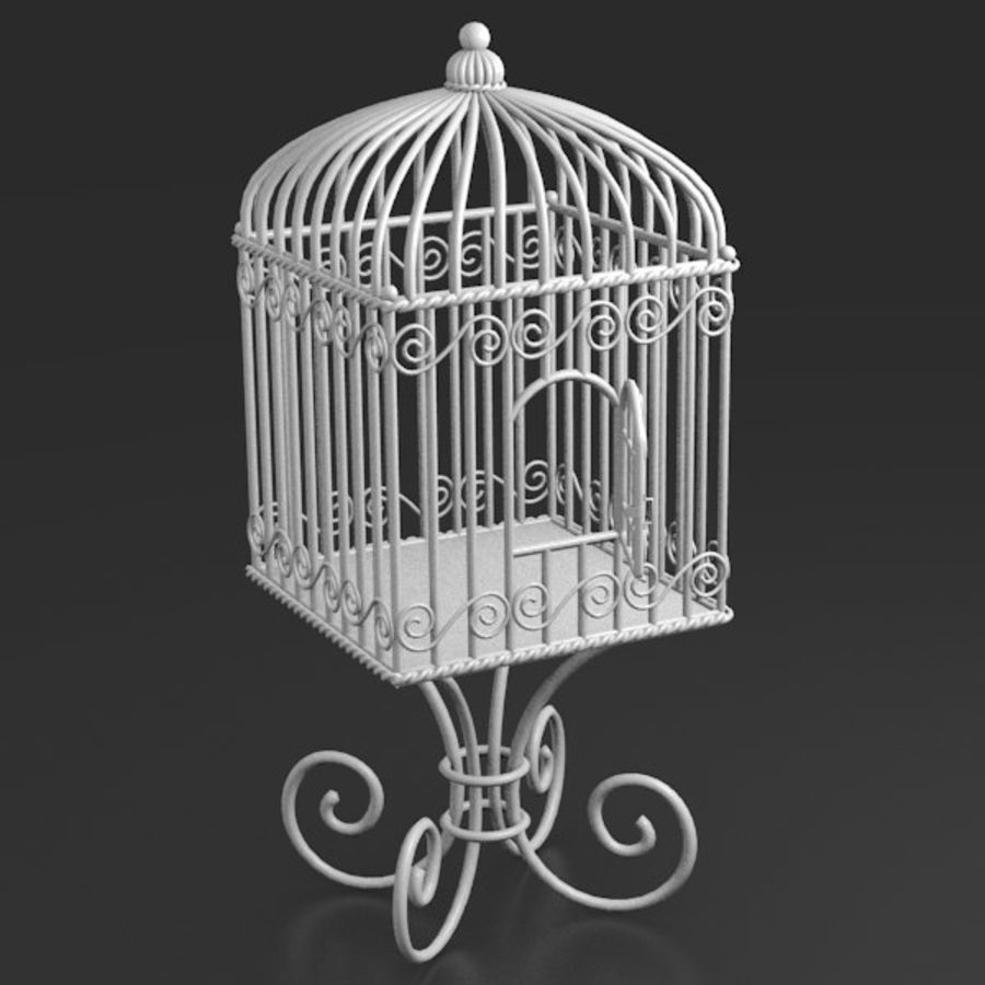 Vogelkooi royalty-free 3d model - Preview no. 9