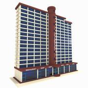 Bâtiment et magasins 3d model