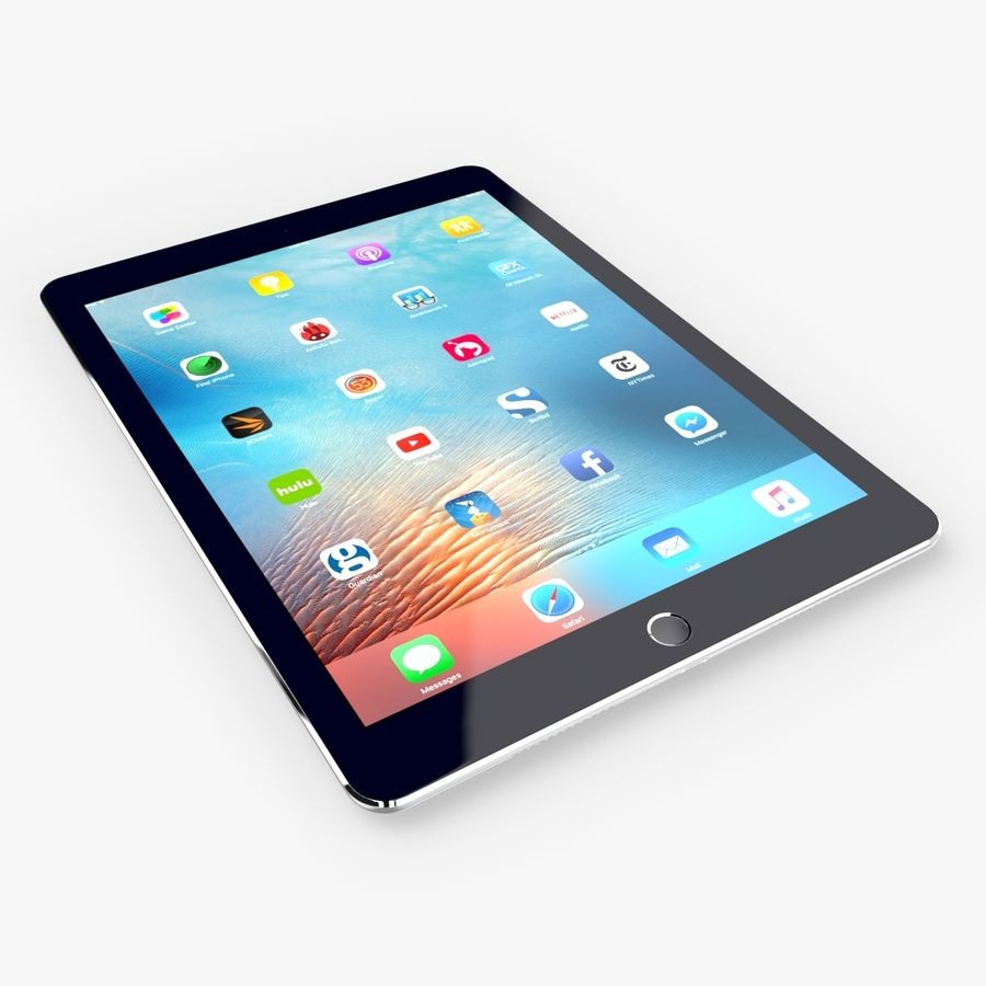 iPad Pro  9.7 royalty-free 3d model - Preview no. 19