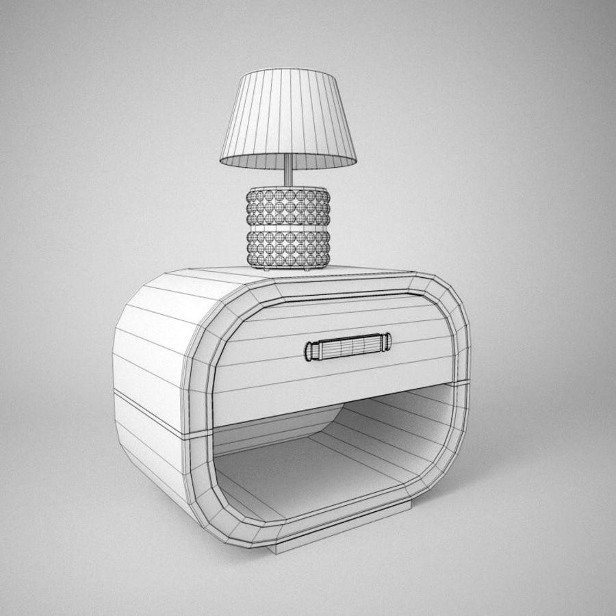 Прикроватный столик royalty-free 3d model - Preview no. 2