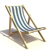 Deck chair 3d model