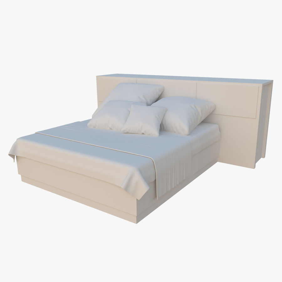 Kingsize bed twee royalty-free 3d model - Preview no. 1