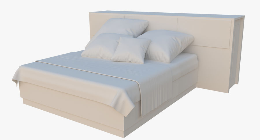 Kingsize bed twee royalty-free 3d model - Preview no. 2