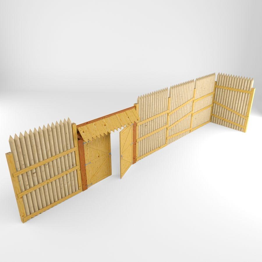 Cerca de madeira royalty-free 3d model - Preview no. 3