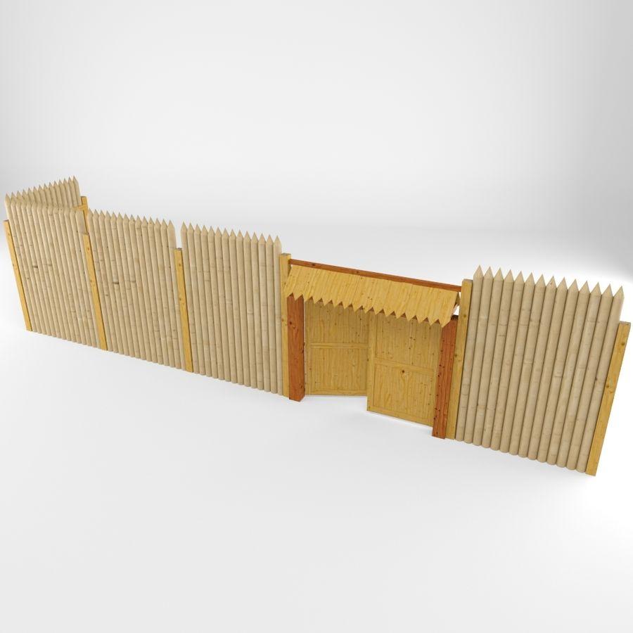 Cerca de madeira royalty-free 3d model - Preview no. 2