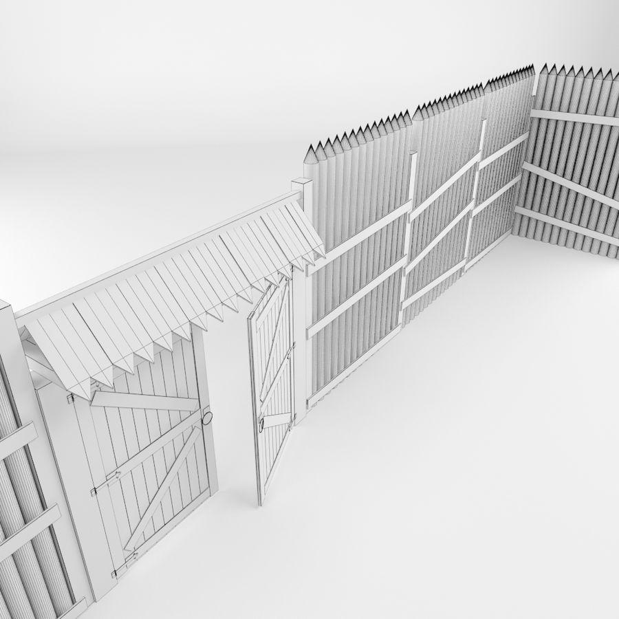 Cerca de madeira royalty-free 3d model - Preview no. 10