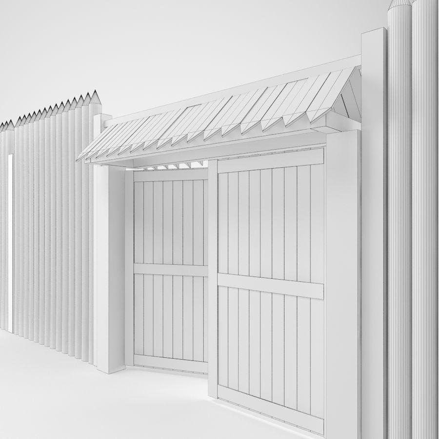 Cerca de madeira royalty-free 3d model - Preview no. 9