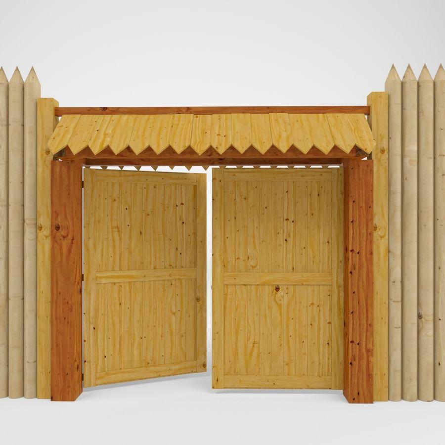 Cerca de madeira royalty-free 3d model - Preview no. 5