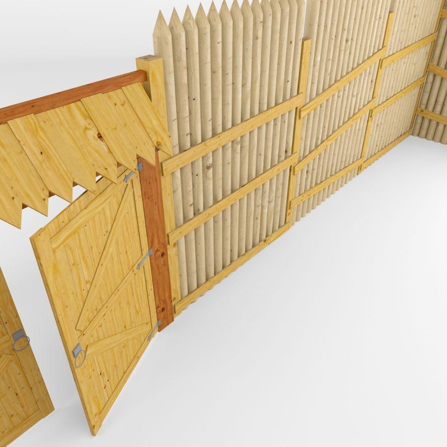 Cerca de madeira royalty-free 3d model - Preview no. 6