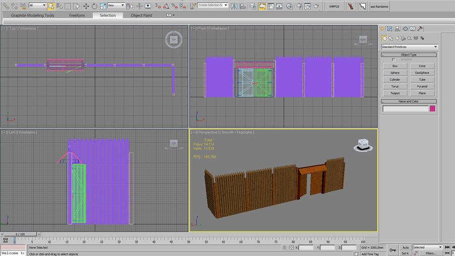 Cerca de madeira royalty-free 3d model - Preview no. 11