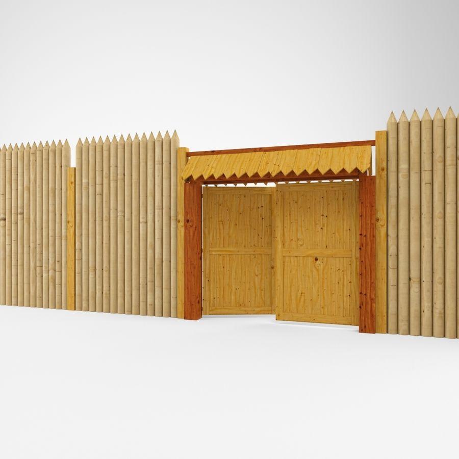 Cerca de madeira royalty-free 3d model - Preview no. 1