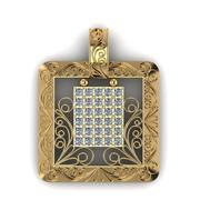 Pingente com diamantes 3d model