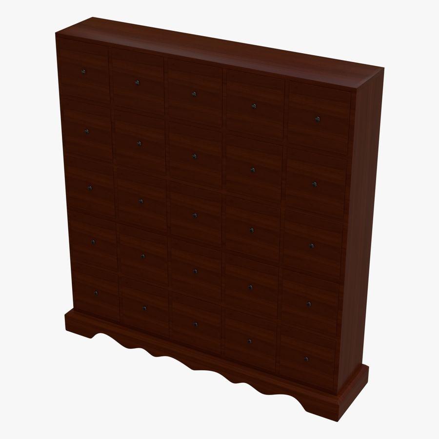 Mueble de madera royalty-free modelo 3d - Preview no. 1