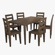 식탁 01 3d model