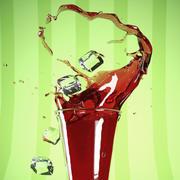 Juice Splash 3d model