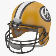 Voetbal helm 3d model