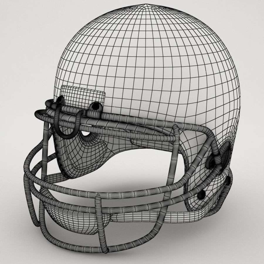 Football-Helm royalty-free 3d model - Preview no. 7