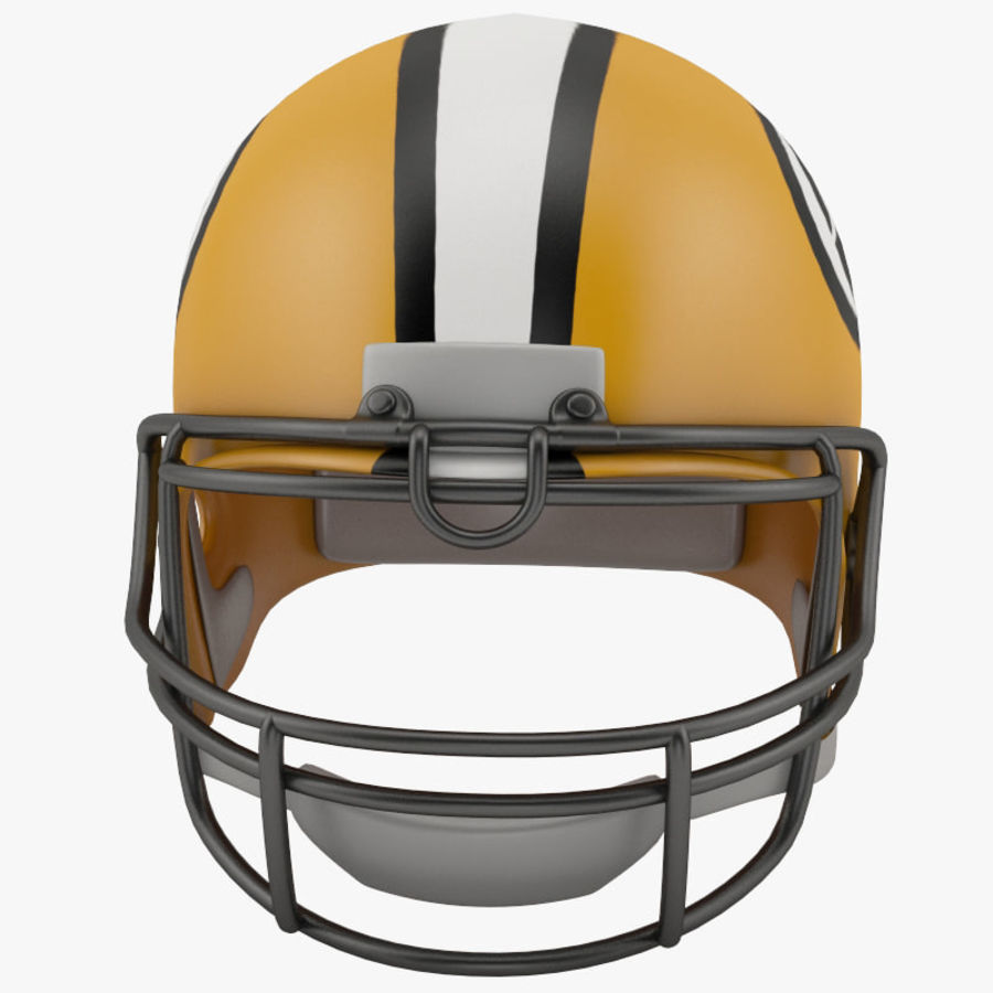 Football-Helm royalty-free 3d model - Preview no. 2