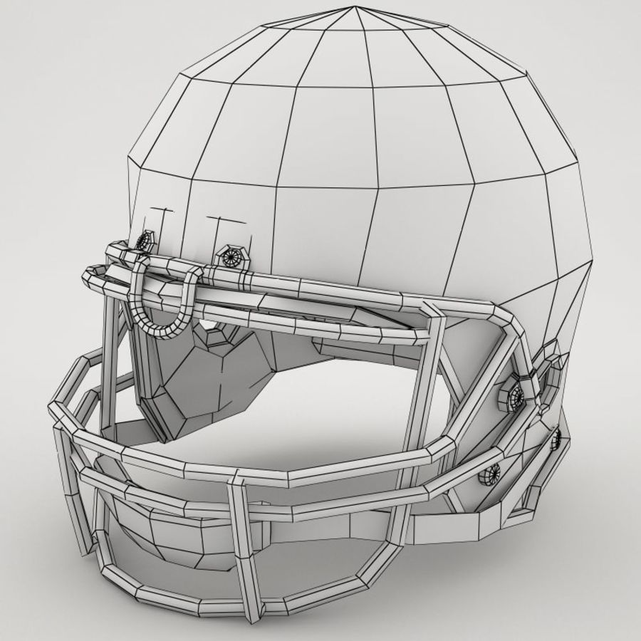 Football-Helm royalty-free 3d model - Preview no. 6