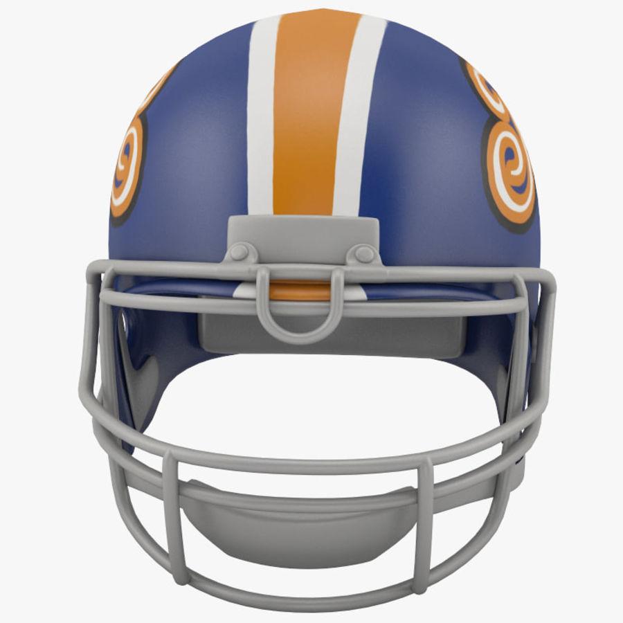 足球头盔2 royalty-free 3d model - Preview no. 2