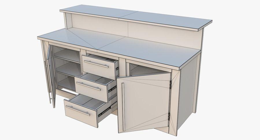 Blat kuchenny trzy teksturowany royalty-free 3d model - Preview no. 9