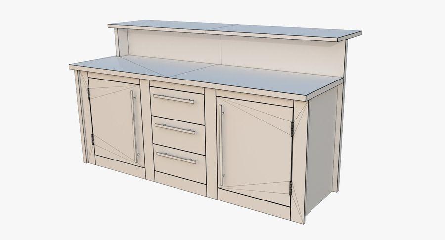 Blat kuchenny trzy teksturowany royalty-free 3d model - Preview no. 8