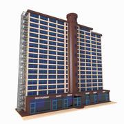 Apartment & Shops 3d model