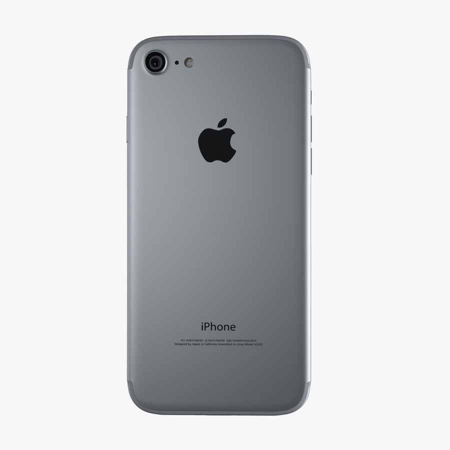 Apple iPhone 7 royalty-free 3d model - Preview no. 10