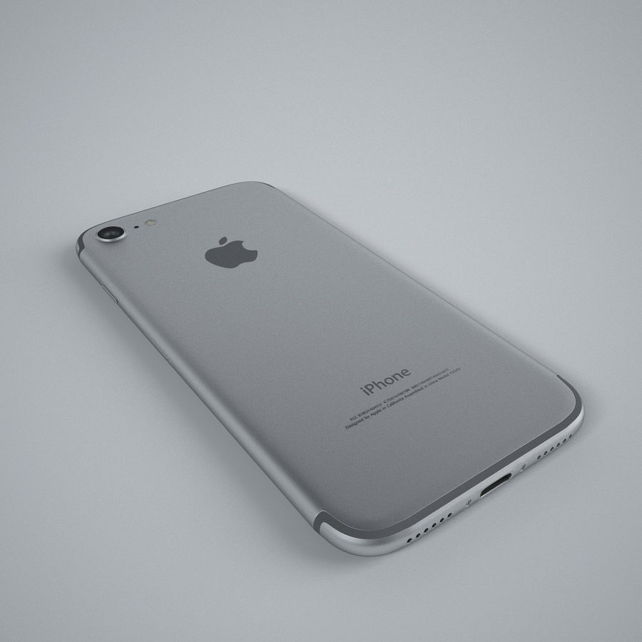 Apple iPhone 7 royalty-free 3d model - Preview no. 6