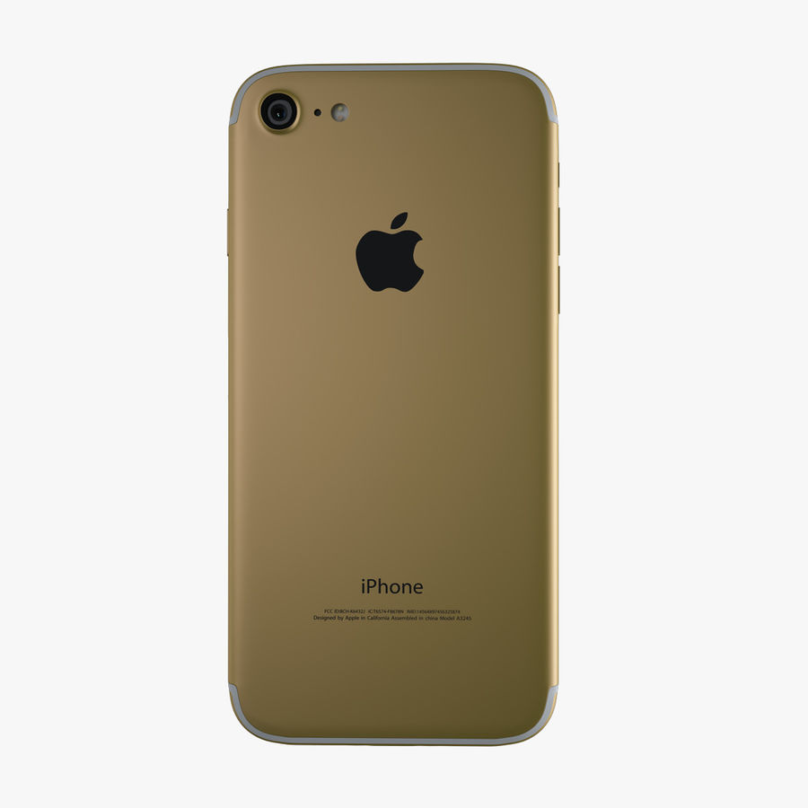 Apple iPhone 7 royalty-free 3d model - Preview no. 7