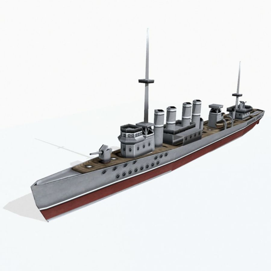 Destructor clase Wickes royalty-free modelo 3d - Preview no. 3