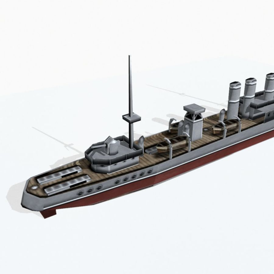 Destructor clase Wickes royalty-free modelo 3d - Preview no. 8