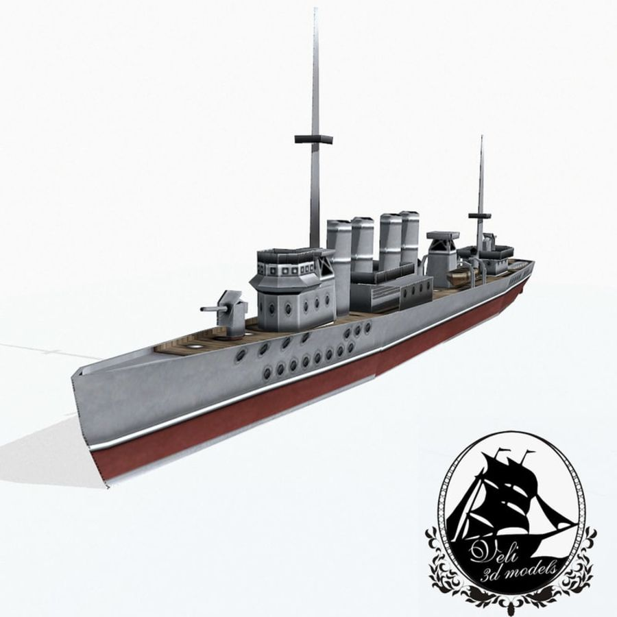 Destructor clase Wickes royalty-free modelo 3d - Preview no. 1