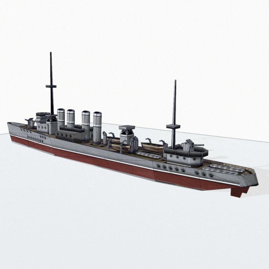 Destructor clase Wickes royalty-free modelo 3d - Preview no. 15