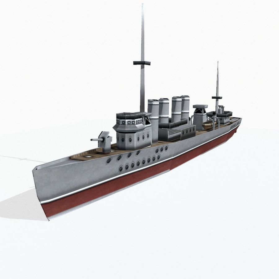 Destructor clase Wickes royalty-free modelo 3d - Preview no. 2