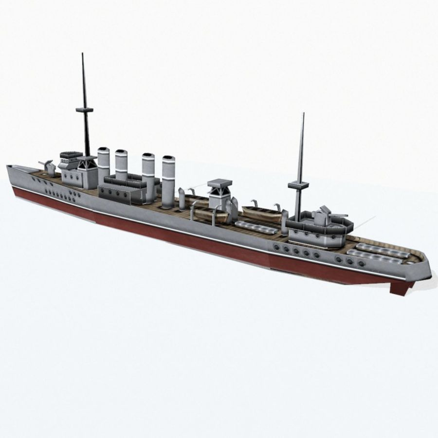 Destructor clase Wickes royalty-free modelo 3d - Preview no. 6