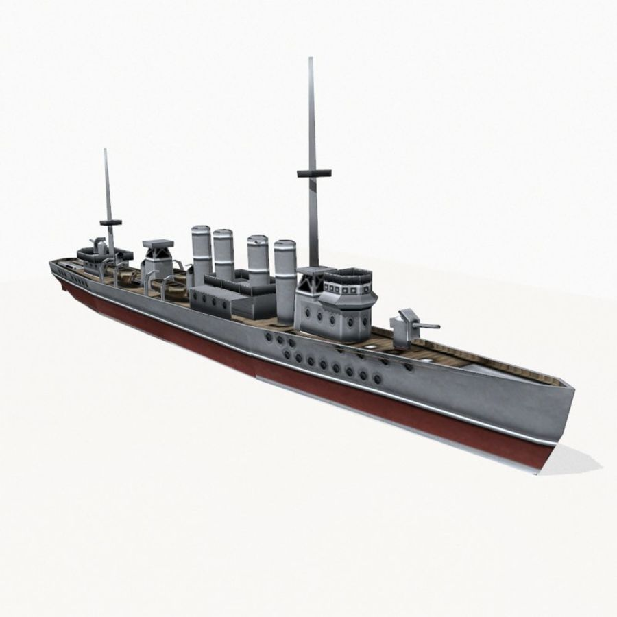 Destructor clase Wickes royalty-free modelo 3d - Preview no. 4