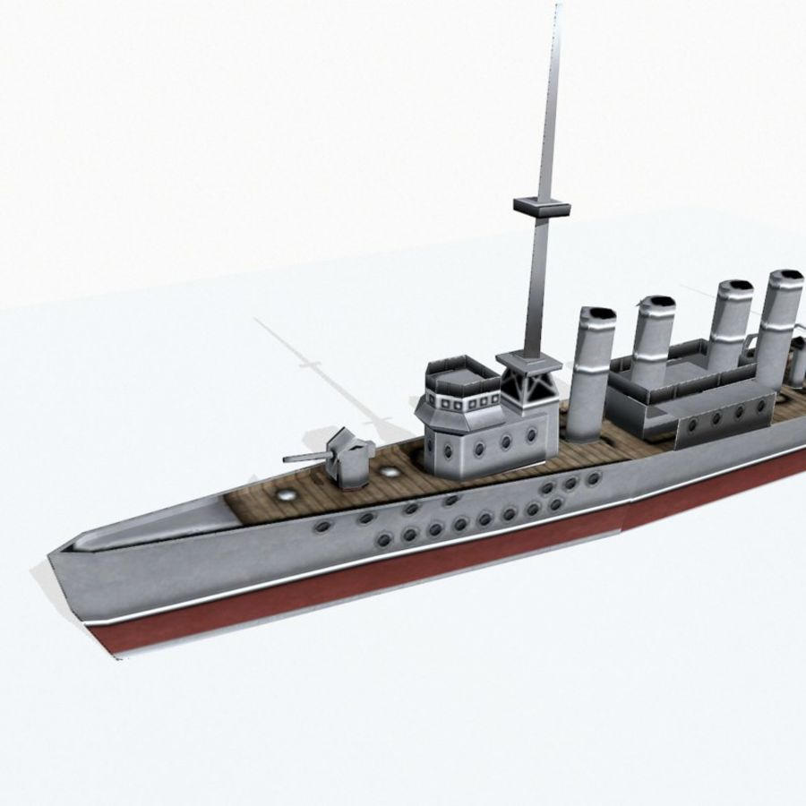 Destructor clase Wickes royalty-free modelo 3d - Preview no. 7