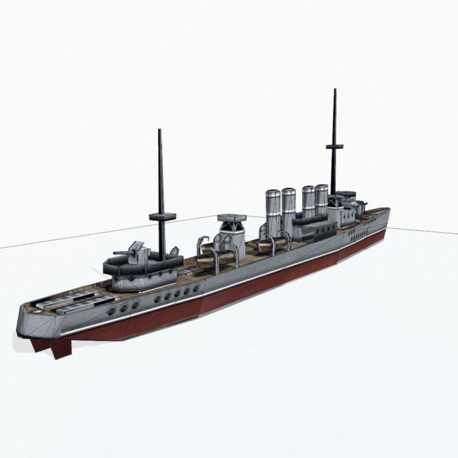 Destructor clase Wickes royalty-free modelo 3d - Preview no. 14