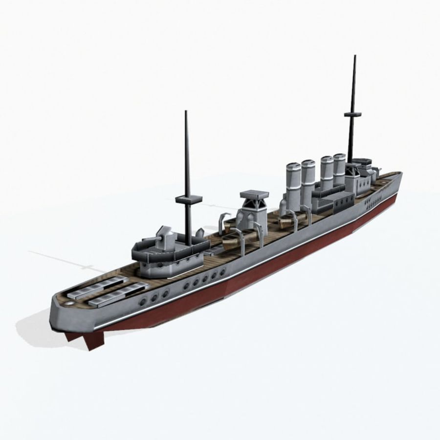Destructor clase Wickes royalty-free modelo 3d - Preview no. 5