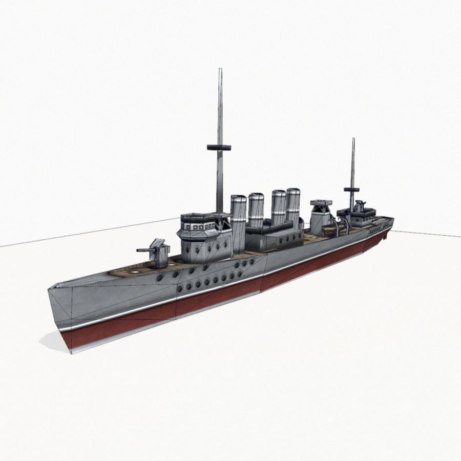 Destructor clase Wickes royalty-free modelo 3d - Preview no. 12