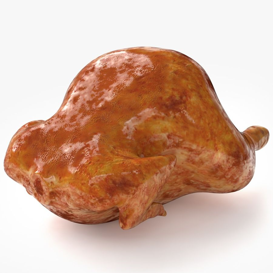 Fried chicken royalty-free 3d model - Preview no. 2