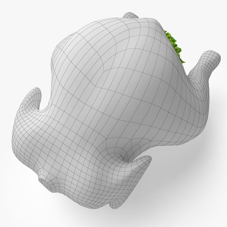 Fried chicken royalty-free 3d model - Preview no. 6