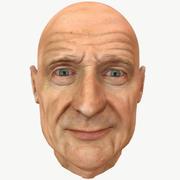 老人の顔 3d model